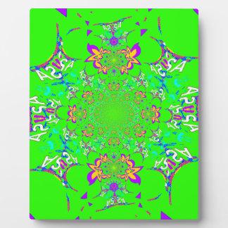 Sambabunte helle Blumendamast-Entwurfsfarben Fotoplatte