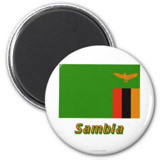 Sambia Flagge MIT Namen