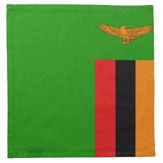 Sambia-Flaggen-Serviette Stoffserviette