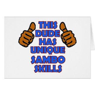 Sambo-Entwürfe Karte