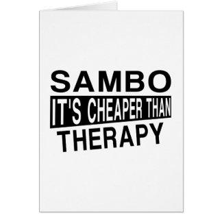 SAMBO IST ES BILLIGER ALS THERAPIE KARTE
