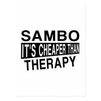 SAMBO IST ES BILLIGER ALS THERAPIE POSTKARTE