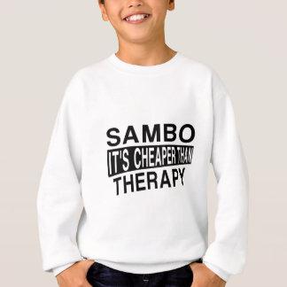 SAMBO IST ES BILLIGER ALS THERAPIE SWEATSHIRT