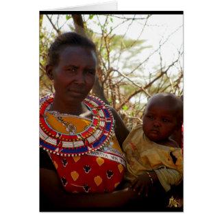 Samburu Mutter u. Kind Karte