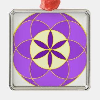 Samen von Leben-Engel 18 Quadratisches Silberfarbenes Ornament