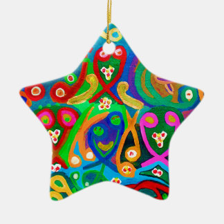 SAMENZELLEN Tanz - sinnliche Künstler-Fantasie Keramik Ornament