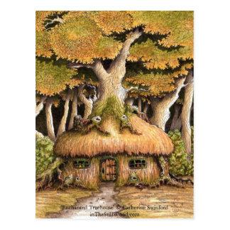 """Sammelbare Postkarte """"des verzauberten Baumhauses"""""""