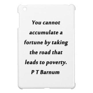 Sammeln Sie ein Vermögen - P T Barnum an iPad Mini Hülle