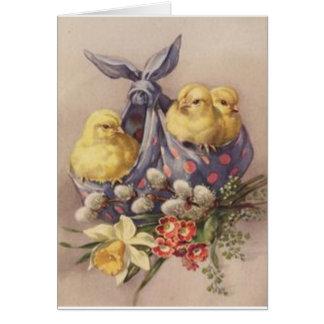 Sammeln von Ostern-Küken Grußkarte