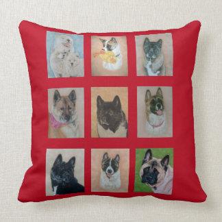 Sammlung des Akita-Hundeporträt-Kunstentwurfs Kissen