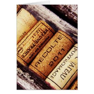 Sammlung Flaschenkorken des französischen Weins Karte