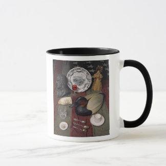 Sammlung Gegenstände, einschließlich eine Schale Tasse