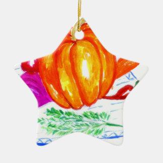 Sammlung Gemüse Keramik Ornament