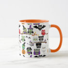 Sammlung gespenstische Halloween-Eulen Tasse