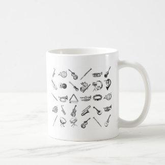 Sammlung klassische Musikinstrumente Kaffeetasse