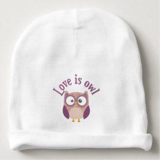 """Sammlung """"Love is owl """" Babymütze"""