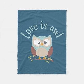 """Sammlung """"Love is owl """" Fleecedecke"""