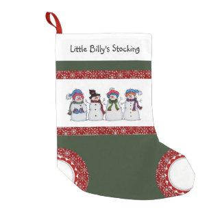 Sammy der Snowman-und Freund-WeihnachtsStrumpf Kleiner Weihnachtsstrumpf