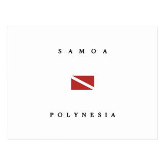 Samoa-Inseln das Polynesien Postkarte