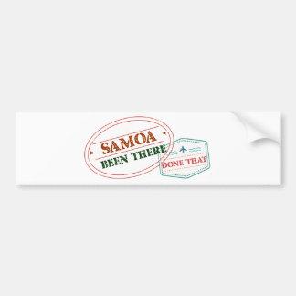 Samoa-Inseln dort getan dem Autoaufkleber