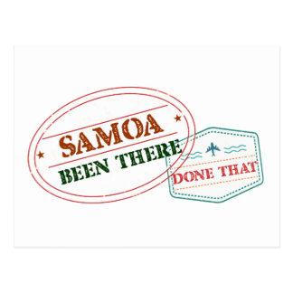 Samoa-Inseln dort getan dem Postkarte
