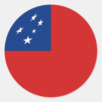 Samoa-Inseln Fisheye Flaggen-Aufkleber Runder Aufkleber