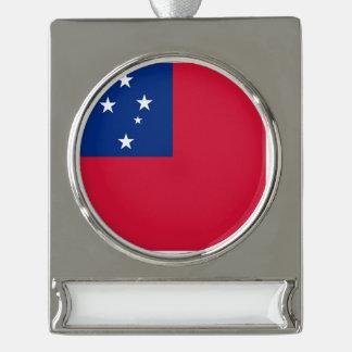 Samoa-Inseln Flagge Banner-Ornament Silber