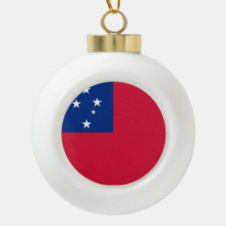 Samoa-Inseln Flagge Keramik Kugel-Ornament