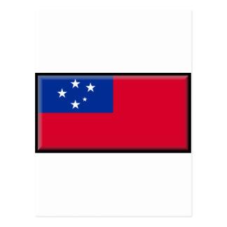 Samoa-Inseln Flagge Postkarte