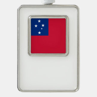 Samoa-Inseln Flagge Rahmen-Ornament Silber