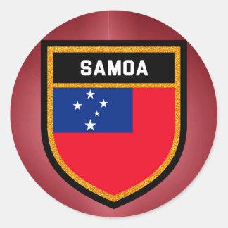 Samoa-Inseln Flagge Runder Aufkleber