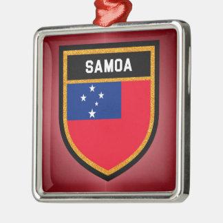Samoa-Inseln Flagge Silbernes Ornament