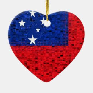 Samoa-Inseln Flaggen-Glitterverzierung Ornament