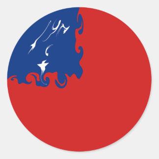 Samoa-Inseln Gnarly Flagge Aufkleber