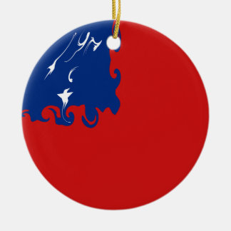 Samoa-Inseln Gnarly Flagge Rundes Keramik Ornament