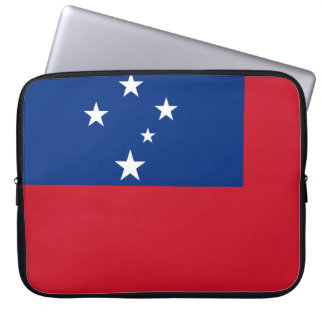 Samoa-Inseln nationale Weltflagge Laptopschutzhülle