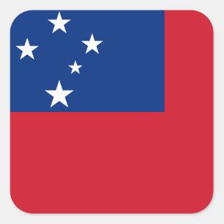 Samoa-Inseln nationale Weltflagge Quadratischer Aufkleber