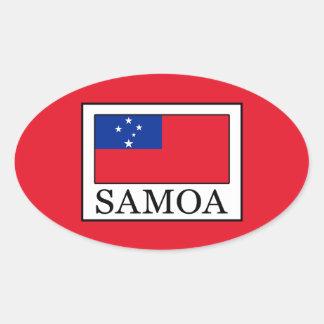 Samoa-Inseln Ovaler Aufkleber