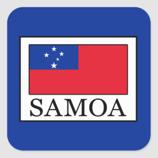 Samoa-Inseln Quadratischer Aufkleber