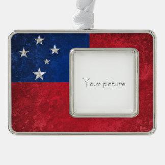 Samoa-Inseln Rahmen-Ornament Silber