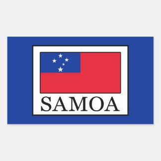 Samoa-Inseln Rechteckiger Aufkleber