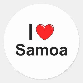 Samoa-Inseln Runder Aufkleber