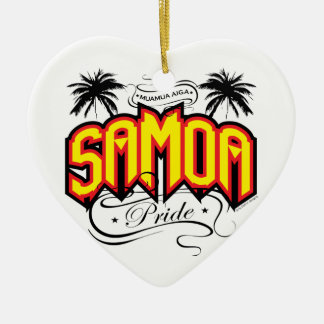 Samoa-Inseln Stolz Keramik Ornament