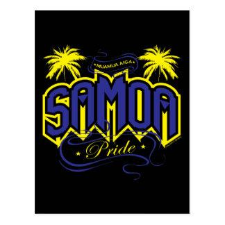 Samoa-Inseln Stolz Postkarte