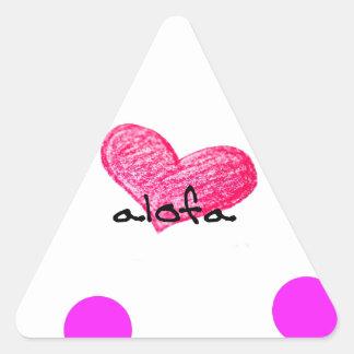 Samoaische Sprache des Liebe-Entwurfs Dreieckiger Aufkleber