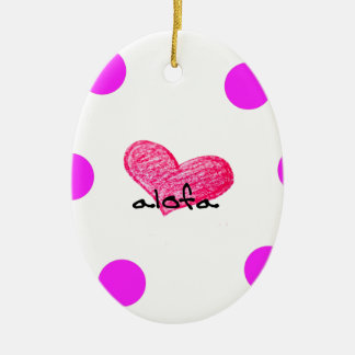 Samoaische Sprache des Liebe-Entwurfs Keramik Ornament