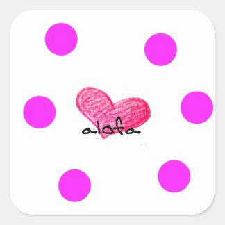 Samoaische Sprache des Liebe-Entwurfs Quadratischer Aufkleber