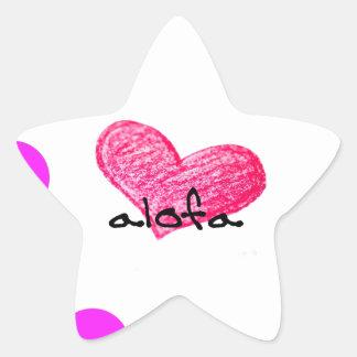 Samoaische Sprache des Liebe-Entwurfs Stern-Aufkleber