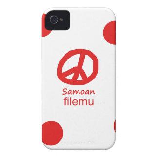 Samoaische Sprache und Friedenssymbol-Entwurf iPhone 4 Case-Mate Hülle