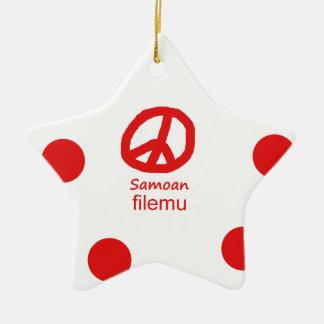 Samoaische Sprache und Friedenssymbol-Entwurf Keramik Ornament